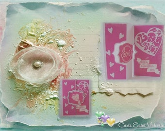 Love - Heart in pink and white