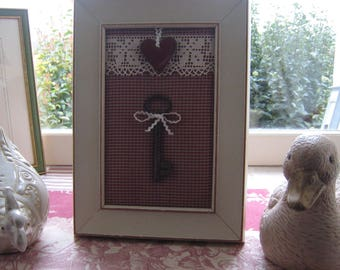 """Frame """"antique key"""" country chic style"""
