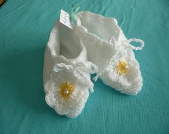 baby shoes, T.38/39, bed or inside - white - ideal for sensitive.
