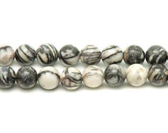 2PC - stone beads - Zebra Jasper balls 14mm 4558550022820