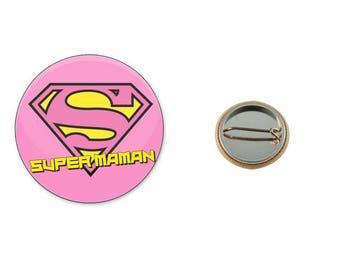 Super MOM - 25 mm button badge