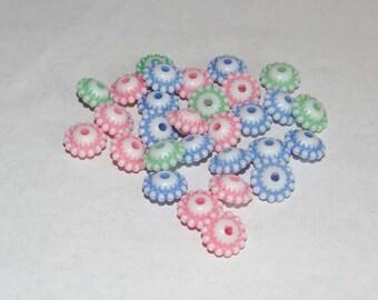 set of 29 10x5mm hole 2mm Plastic beads