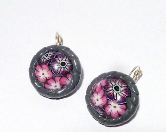 Earrings La Vie en Rose ° ° round flowers