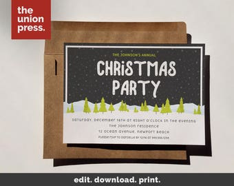 Christmas Party Invitations, Christmas Party Invite, Holiday Party Invitation Holiday Party Invite Christmas Invitations Holiday Invitations