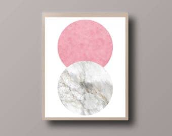 Abstract Scandinavian Print, Marble Print, Minimalist Print, Abstract Circle Print, Abstract Foil Print, Minimalist Circle Print