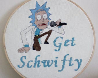 Rick and Morty: Get Schwifty Cross Stitch
