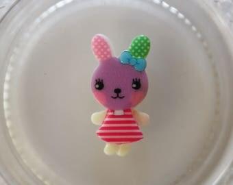 Purple and pink rabbit resin scrapbooking
