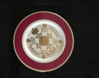 Diamond Jubilee of the order of the British Empire dish (O.B.E.), 1917-1977