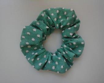 Printed fabric elastic hair tie
