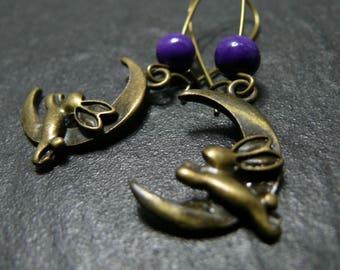 Sweet dreams earrings violet