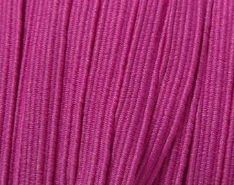 Flat elastic pink hot pink 6 mm