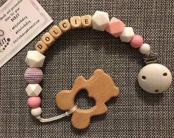 Universal dummy clips & teether shape