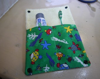 Toothbrush and toothpaste case