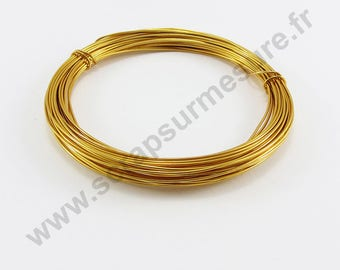 Ø 1 mm x 5 m - light ORANGE - aluminum wire