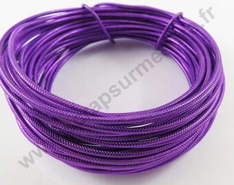 Transparent glass Ø 2 mm - purple - x 5 m cable