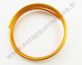 Ø 4mm x 1 m - ORANGE - aluminum wire