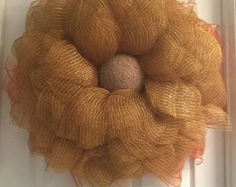 Front Door Wreath, Front Door Fall Wreath, Fall Wreath, Fall Flower Wreath, Autumn Wreath, Autumn Flower Wreath, Flower Wreath, Fall Gold Me