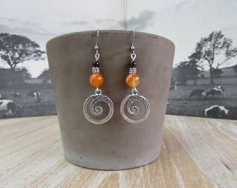 """""""Swirls"""" earrings"""