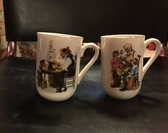 Norman Rockwell Cups