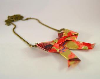 Obi Geisha Nakamura 帯 Origami necklace