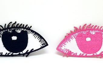 1070# Cool Eyes Pair Patch Iron/Sew on Embroidered patch
