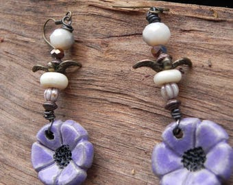 Earrings small swallows of spring