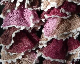 scarf made soft tassels