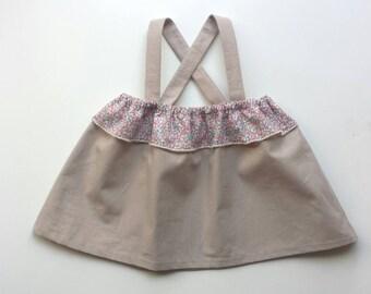 Beige baby girl liberty Eloise SUR COMMANDE top blouse