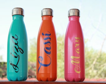 17oz Stainless Steel Water Bottle -Personalized Stainless Steel Bottle - Monogrammed Stainless Steel Water Bottle -  Monogram Cup