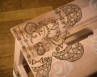 Pyrography step stool