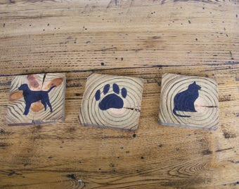 rustic handmade mix and match wood coasters