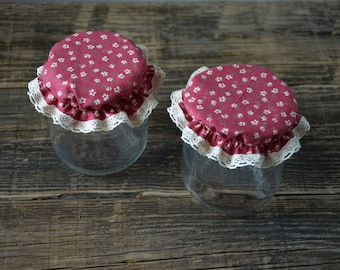 """Set 2 country-style """"Cecily"""" jar covers"""