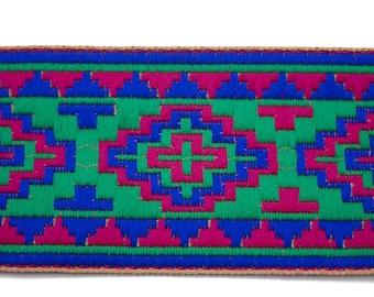 Blue Green 6 cm x 50 cm pink Jacquard Ribbon