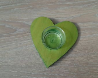 Heart candle holder for decoration or any creation