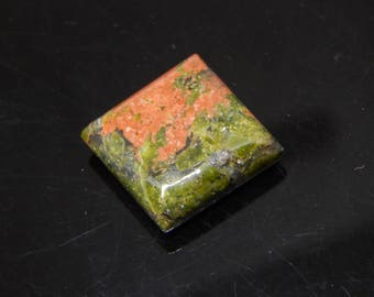 Super Quality Natural Unakite Cab, Gemstone For Jewelry Use,20.5 carat Square Shape  size 17 x 17 mm ,Handmade Jewelry Making