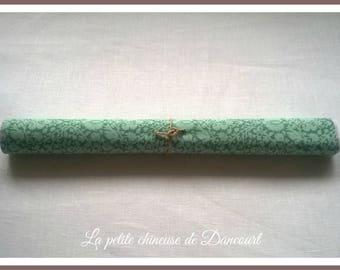 Fabric sticker Tilda green floral