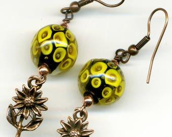 """-30% earrings copper """"Sun envy"""" - unique-"""
