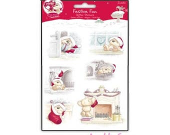 Christmas stickers Fizzy Moon embellishment scrapbooking cardmaking decoration (ref.110) *.