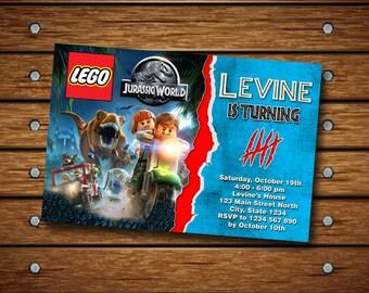 Lego Jurassic Invitation,Lego Jurassic Birthday Invitation,Lego Invitation,Jurassic Invitation,Lego Jurassic Invite,Jurassic Birthday-180