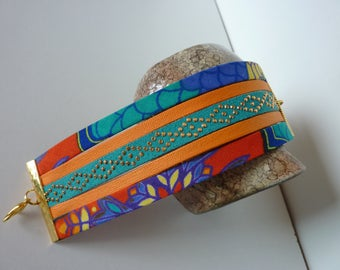 "Ethnic bracelet ""Wax"" multi-color"