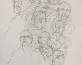 9 portraits from life drawing class