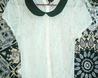 Lace vintage scoop neck