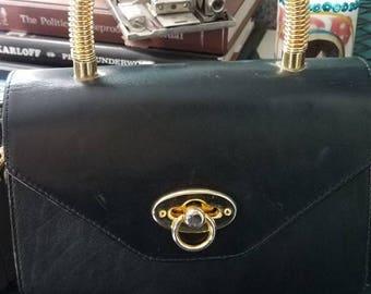 Vintage handbag with Unique hardware