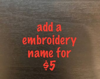 add a embroidery name