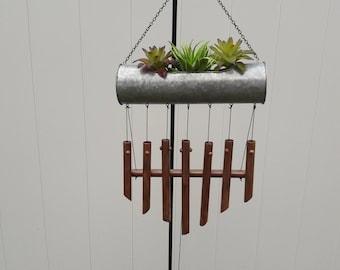 Succulent Handmade Windchime