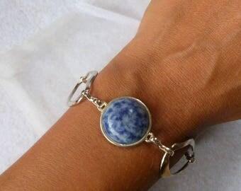 """Sodalite"" minimalist bracelet"