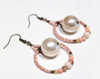 Hoop earrings large beads