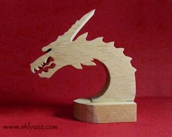 Wooden beech fretwork Dragon sculpture