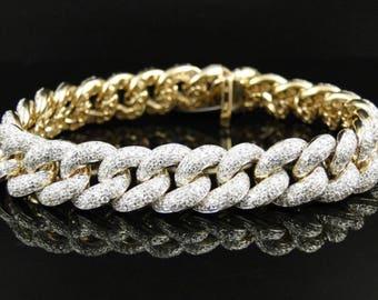 Lil Yatchy Dtainkess steel Frosty Treat Cuban lab diamond Bracelet