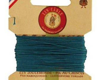 Cardboard 10 meters of AU Chinois linen thread n ° 432 teal 863